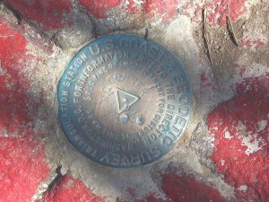 Survey Disc marking the TN-VA-NC Tri-State Knob