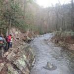 streamside hiking